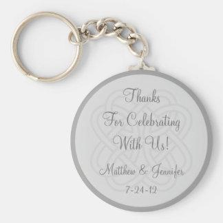 Custom Gray Keychain Wedding Favor Keepsake Gift