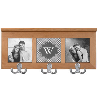 Custom Gray Monogram Coat Rack
