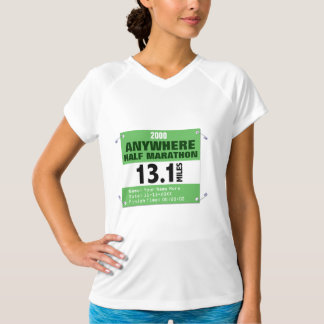 Custom Green Anywhere Half-Marathon, 13.1 Miles T-Shirt