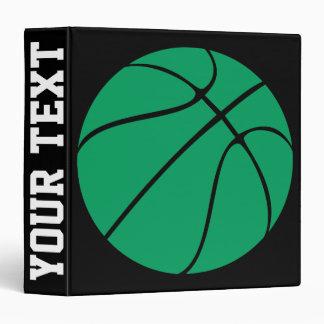 Custom Green Basketball Playbook Binder