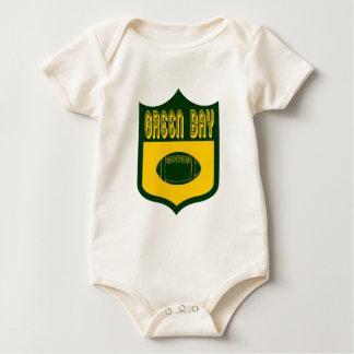 Custom Green Bay Shield Design Baby Bodysuit