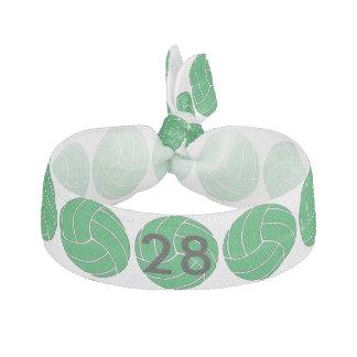 Custom Green Volleyball Hair Tie