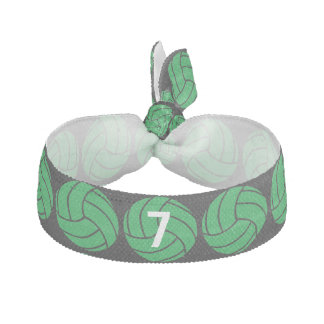 Custom Green Volleyball Hair Tie