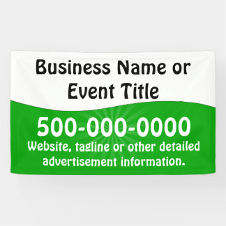 Custom Green White Business Advertising Banner