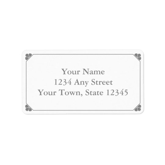 Custom Grey Pre-Printed Address Labels