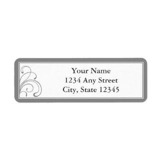 Custom Grey Pre-Printed Return Address Labels