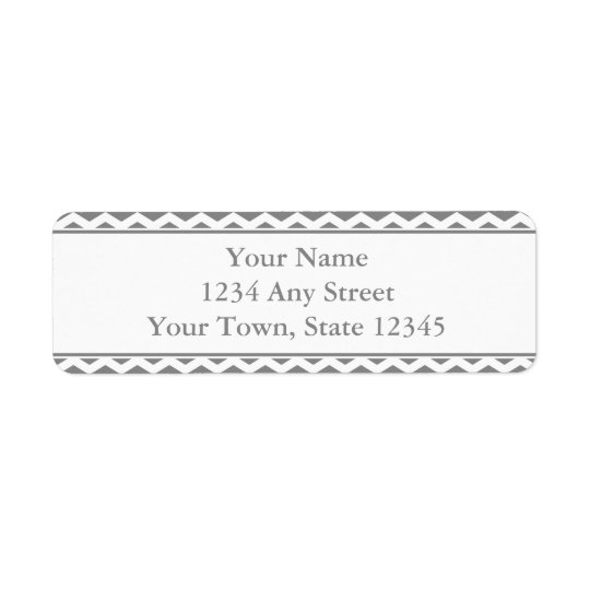 Custom Grey & White Return Address Labels