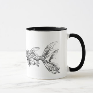 Custom Greyscale Goldfish Mug