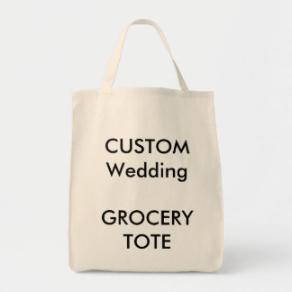 Custom Grocery Shopping Tote Bag (NATURAL Colour)