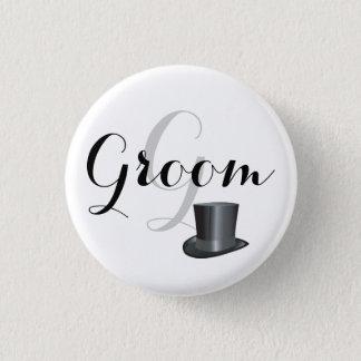 Custom Groom Wedding Pin back Buttons Badges