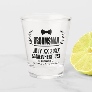 Custom Groomsman Shot Glass