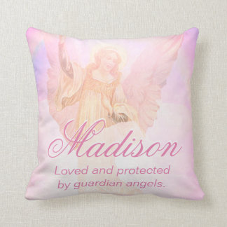Custom Guardian Angel Add Name Throw Pillow