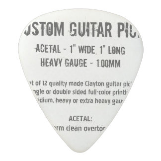 Custom Guitar Pick - Acetal, Heavy Gauge 1.00mm Acetal Guitar Pick