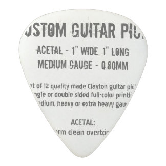 Custom Guitar Pick - Acetal, Medium Gauge 0.80mm Acetal Guitar Pick