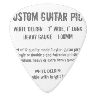 Custom Guitar Pick - Delrin, Heavy Gauge 1.00mm