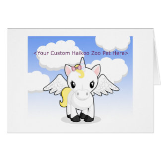 Custom Haikoo Zoo Greeting Card (Blank)