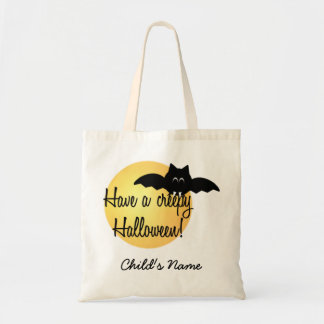 Custom Halloween Bat Trick or Treat bag! Tote Bag