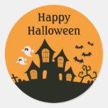Custom Halloween Haunted House Stickers
