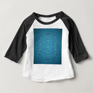 Custom hand drawn blue mandala baby T-Shirt