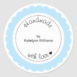 Custom Handmade With Love Party Favour Stickers