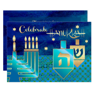 Custom Hanukkah Celebration Party Invitations