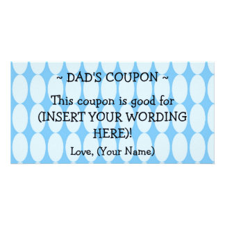 CUSTOM HANUKKAH GIFT COUPON FOR DAD PHOTO CARDS