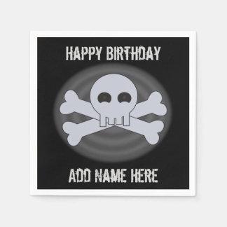 Custom Happy Birthday Skull Napkins Disposable Napkins