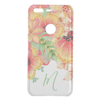 Custom Happy Flowers Pattern Watercolor Painting Uncommon Google Pixel Case