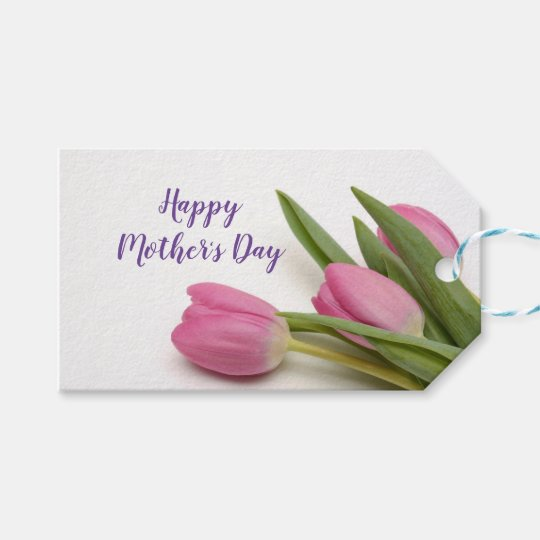 Custom Happy Mother's Day with Tulips Gift Tags   Zazzle.ca
