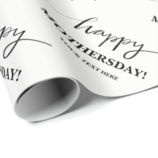 Custom Happy Mothers Day wrapping paper for mom