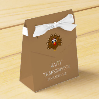 Custom Happy Thanksgiving Turkey day dinner party Favor Box