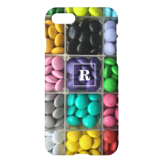 Custom, Hard Candy Photograph with monogram iPhone 8/7 Case