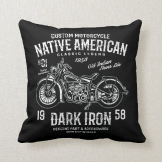 Custom Harley Indian Motorcycle Classic Legend Throw Pillow