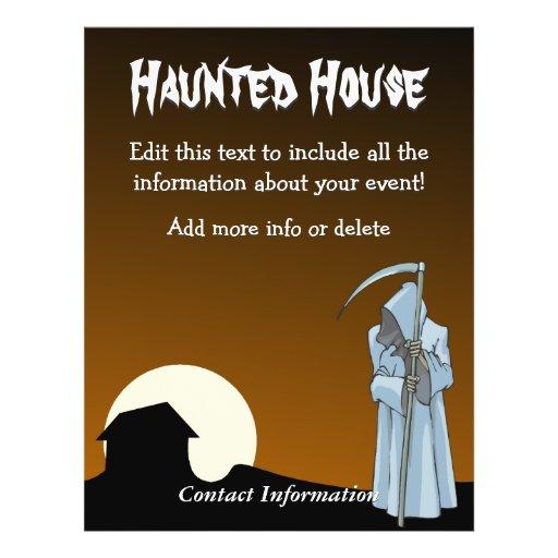 Custom Haunted House Reaper 77 Full Color Flyer