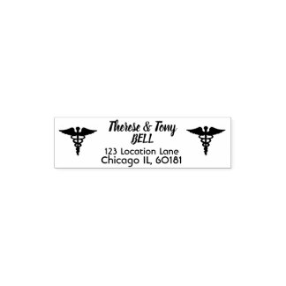 Custom Healthcare Address Rubber Stamp Self Ink