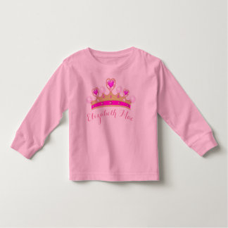 Custom Heart Crown toddler long sleeve shirt