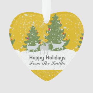 Custom Heart Forest Deer Nature Snow Christmas