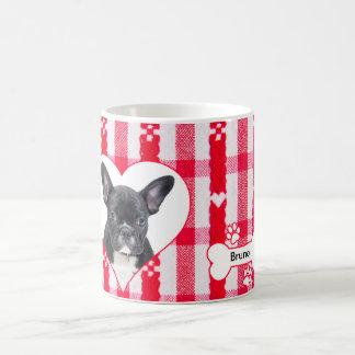 Custom Heart Shaped French Bulldog Coffee Mug 11oz