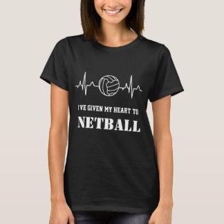 Custom Heartbeat and Ball Fun Netball Quote T-Shirt