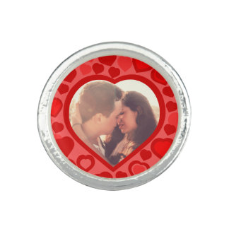 Custom hearted picture border rings