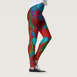 Custom Hearts Print All-Over Women's Leggings