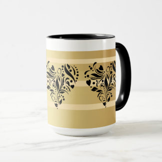 Custom Hearts Ringer 15oz Coffee Mug ZAZZ_IT