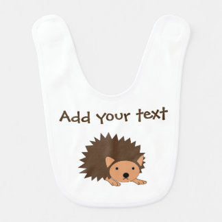 Custom Hedgehog Baby Bib Perfect Baby Shower Gift