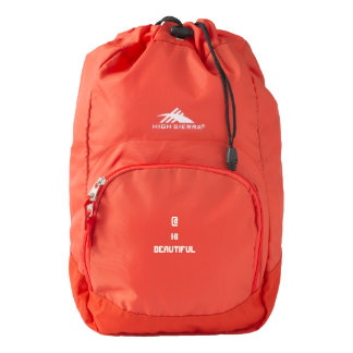 Custom high sierra back pack red