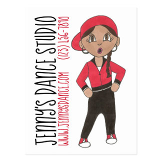 Custom Hip Hop Dance Studio School Class Recital Postcard