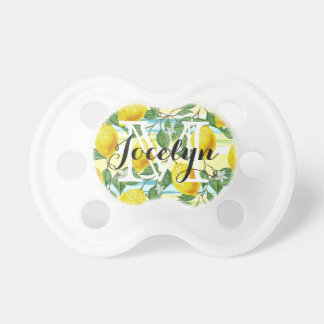 Custom Hip Tropical Summer Lemons Fruit Pattern Pacifier