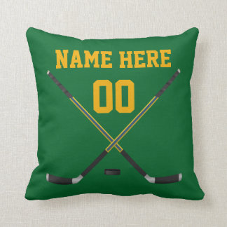 Custom Hockey Pillow with Your Image, Text, Colors
