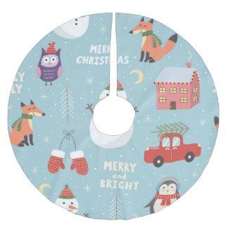 Custom Holiday Season Christmas Tree Skirt