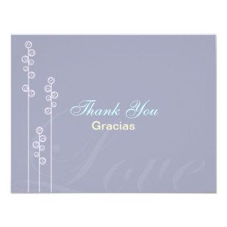 ::custom:Hollyhock & Ampersand Bilingual Thank You Card