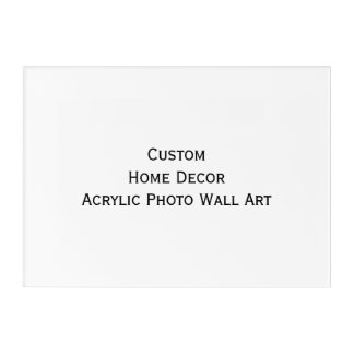 Custom Home Decor Acrylic Photo Wall Art Print